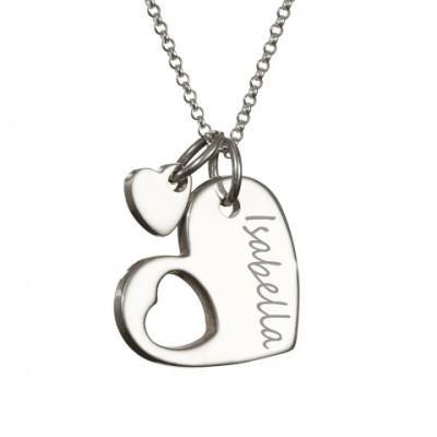 Silver Cut Out Heart Handprint Necklace - The Handmade ™