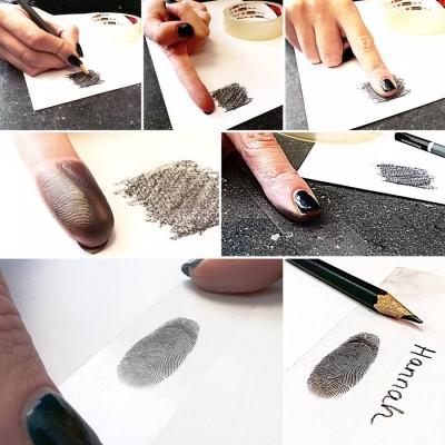Footprint Handprint Mens Dog Tag Necklace - Two Pendants - The Handmade ™