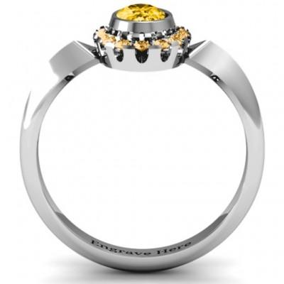 Royal Bezel Set Oval Cluster Ring - The Handmade ™