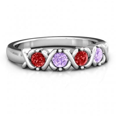 2 to 5 Stone Hugs and Kisses XOXO Ring - The Handmade ™
