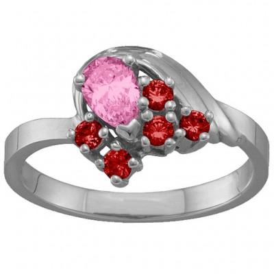 3-9 Stones Swan Ring - The Handmade ™