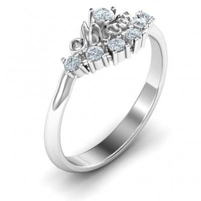 4 - 9 Stone Mom's Glimmering Love Ring - The Handmade ™