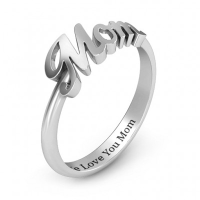 All About Mom Name Ring - The Handmade ™