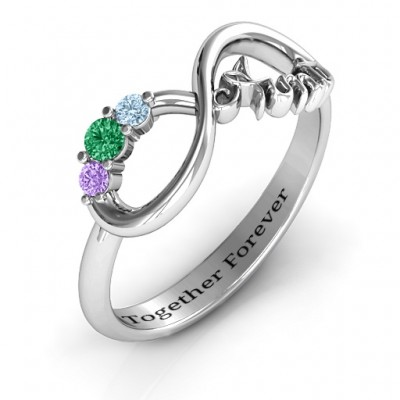 Aunt's Infinite Love Ring with Stones - The Handmade ™