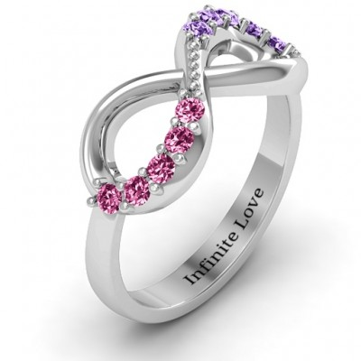Birthstone Infinity Accent Ring - The Handmade ™