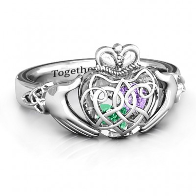 Caged Hearts Celtic Claddagh Ring - The Handmade ™