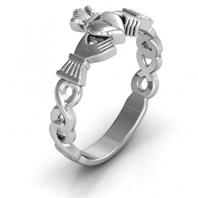 Classic Infinity Claddagh Ring - The Handmade ™