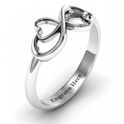 Duo of Hearts Infinity Ring - The Handmade ™