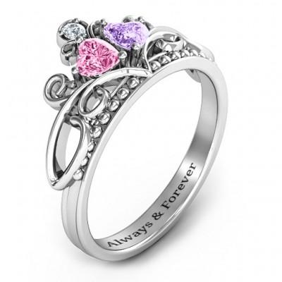 Ever Enchanted Double Heart Tiara Ring - The Handmade ™