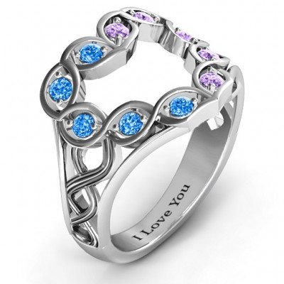 Floating Heart Infinity Ring - The Handmade ™