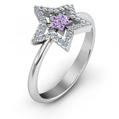 Floating Star with Halo Ring - The Handmade ™