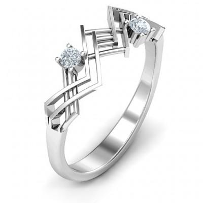 Geometric Glamor Ring - The Handmade ™