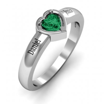 Heart in a Heart Ring - The Handmade ™