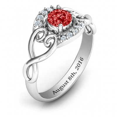 Lasting Love Promise Ring with Accents - The Handmade ™