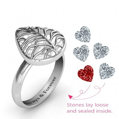 Lovely Lilac Cage Leaf Ring - The Handmade ™