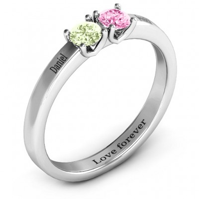 Meet In The Middle Two Stone Ring - The Handmade ™