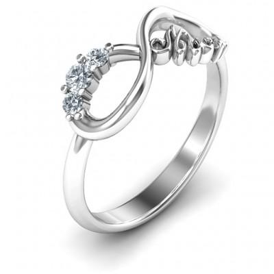 Mum's Infinite Love with Stones Ring - The Handmade ™