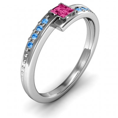 Princess Cut Ring with Accents - The Handmade ™