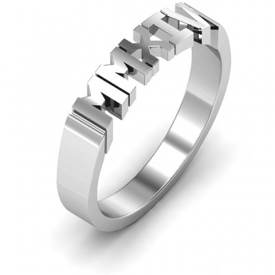 Roman Numeral Unisex Graduation Ring - The Handmade ™