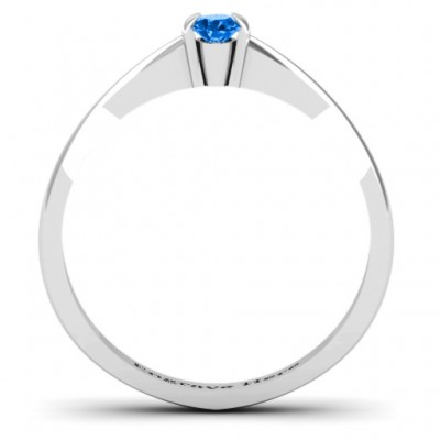 Semi Bezel Set Solitaire Ring - The Handmade ™