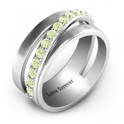 Sparkling Sash Ring - The Handmade ™