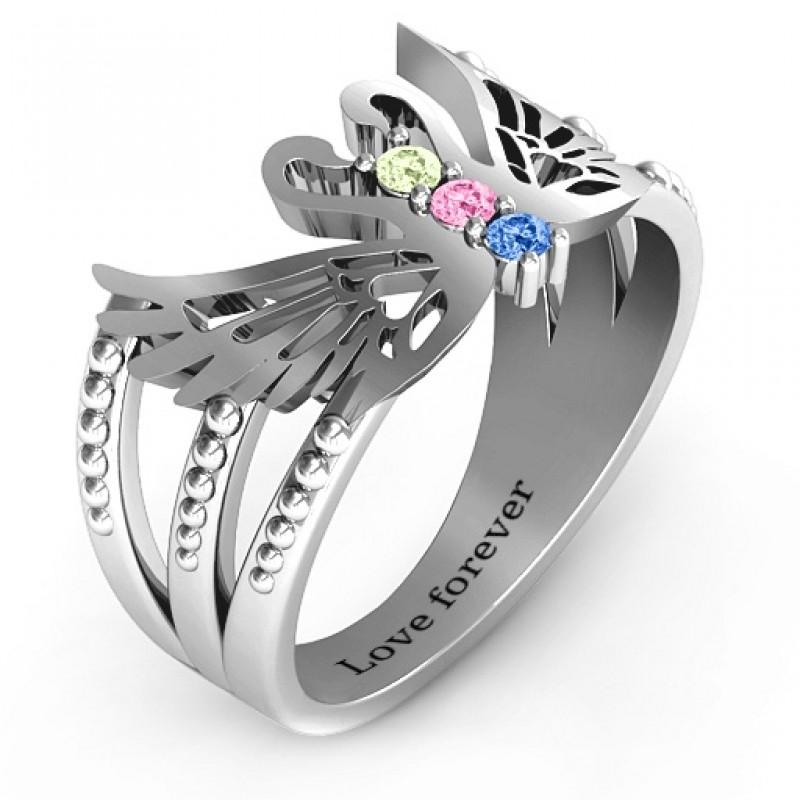 Sparkling Swan Ring