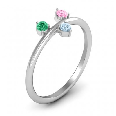 Stackable Sparkle 1-5 Stone Ring - The Handmade ™
