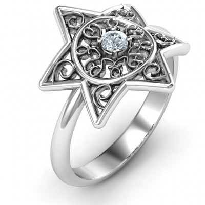 Star of David with Filigree Ring - The Handmade ™