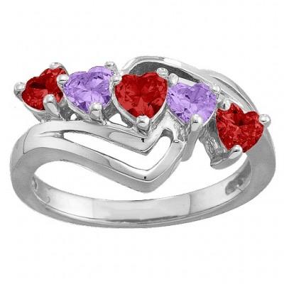 Starburst Heart Ring - The Handmade ™