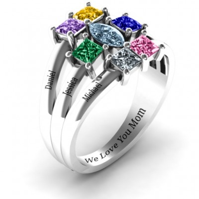 Silver Charlotte Centre Marquise and Princess Ring - The Handmade ™