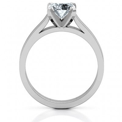 Silver Classic Solitaire Ring - The Handmade ™