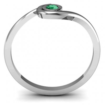 Silver Curved Bezel Ring - The Handmade ™