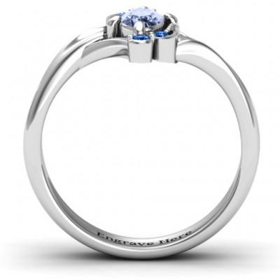 Silver Fancy Oval Asymmetrical Ring - The Handmade ™