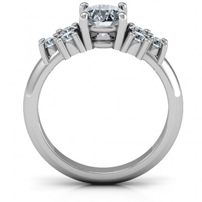 Silver Flourish Engagement Ring - The Handmade ™