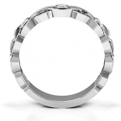 Silver Intertwined Love Band Ring - The Handmade ™