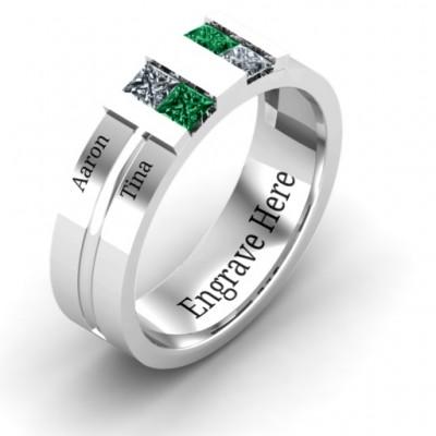 Silver Leonidas Grooved Men's Ring - The Handmade ™