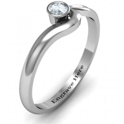 Silver Low Wave Ring - The Handmade ™