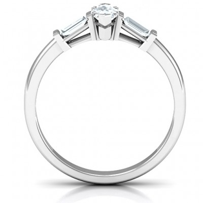 Silver Marquise Cut Love Ring - The Handmade ™