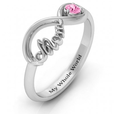 Silver Mom's Infinity Bond Ring - The Handmade ™