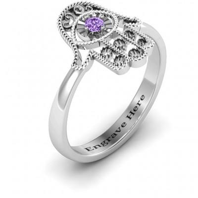 Silver Protection Hamsa Ring - The Handmade ™