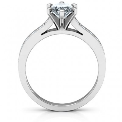 Silver Shining in Love Ring - The Handmade ™