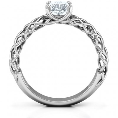 Silver Tangled in Love Ring - The Handmade ™