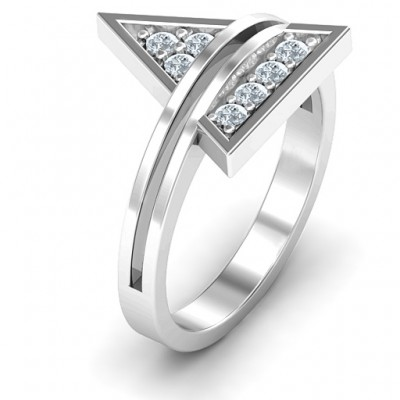 Triangle of Glam Geometric Ring - The Handmade ™