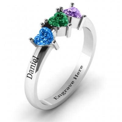 Triple Heart Stone Ring - The Handmade ™