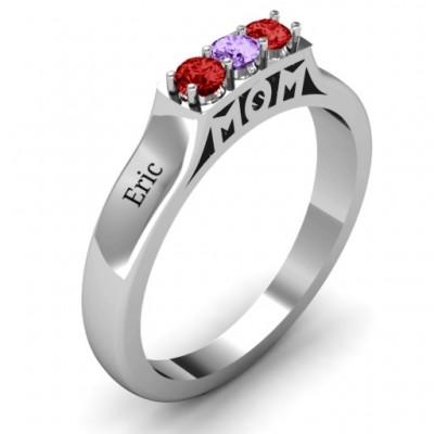 Triple Round Stone MOM Ring - The Handmade ™
