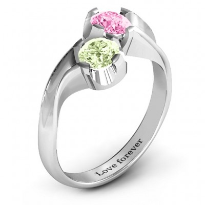 Two Stone Sparkle Ring - The Handmade ™