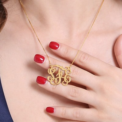 Monogram Necklace Gold - The Handmade ™