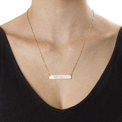 Gold Icon Bar Necklace - The Handmade ™