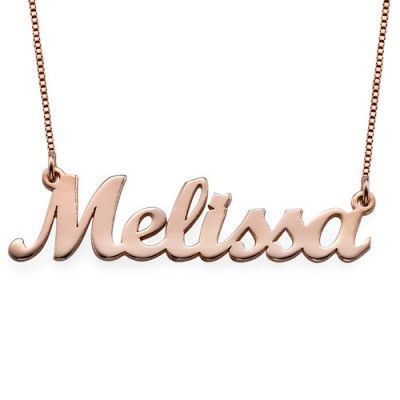 Rose Gold Script Name Necklace - The Handmade ™