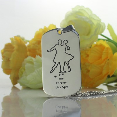 Dancing Theme Dog Tag Name Necklace - The Handmade ™